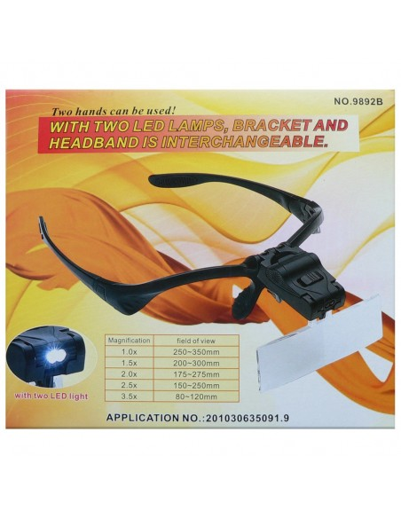 Magnifying Plastic Glasses with LED Light